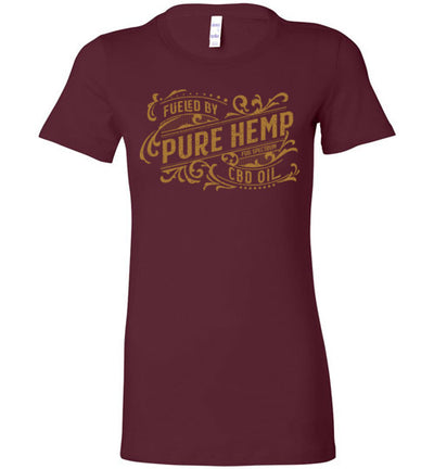 Ladies Junior Fit Crew - Fueled By Hemp