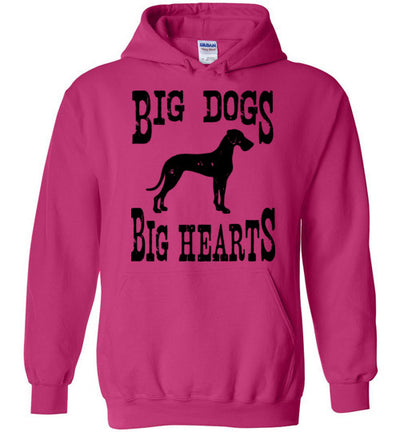 Hoodie Pullover - Big Dogs Big Hearts Floppy Ears
