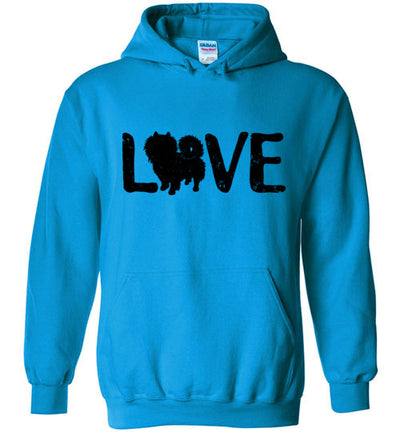 Hoodie Pullover - Love Pomeranian