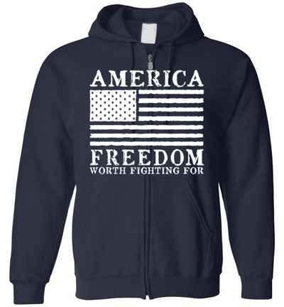 Hoodie Zipper - Freedom Worth Fighting For