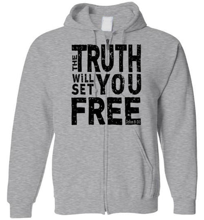Hoodie Zipper - The Truth Will Set You Free