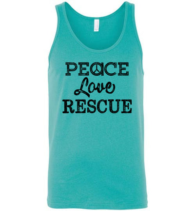 Classic Fit Unisex Tank - Peace Love Rescue