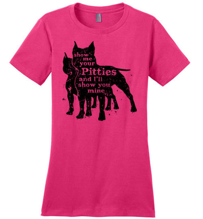 Ladies Classic Fit Crew - Show Me Your Pitties - Cropped Ears