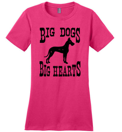 Ladies Classic Fit Crew - Big Dogs Big Hearts Cropped Ears