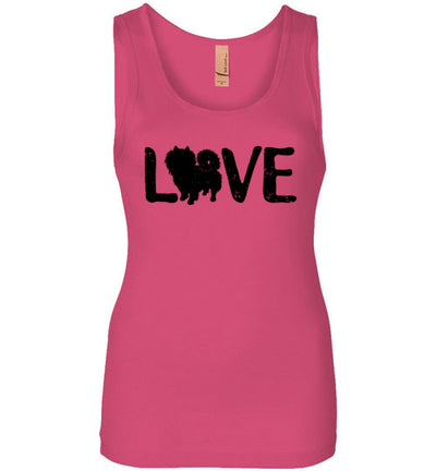 Ladies Junior Fit Tank - Love Pomeranian