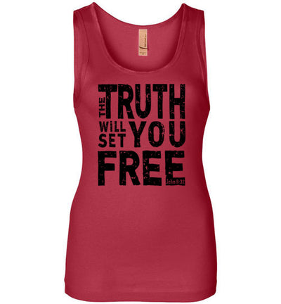 Ladies Junior Fit Tank - The Truth Will Set You Free