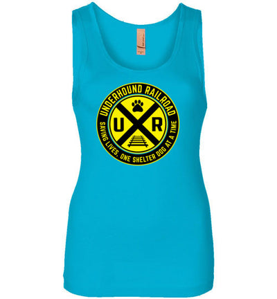 Ladies Junior Fit Tank - Underhound Railroad