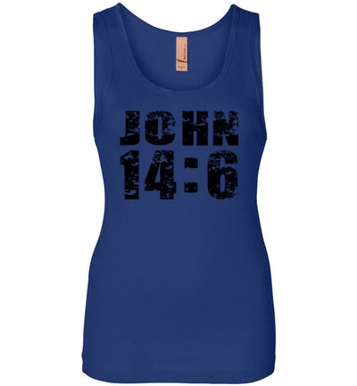 Ladies Junior Fit Tank - John 14:6