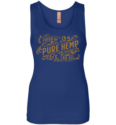 Ladies Junior Fit Tank - Fueled By Hemp