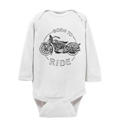 Long Sleeve Romper - Born To Ride Motorcycle