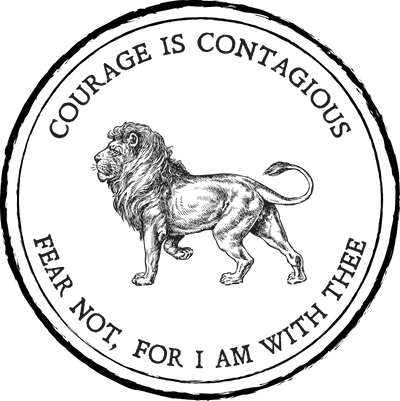 Ladies Classic Fit Crew - Courage is Contagious