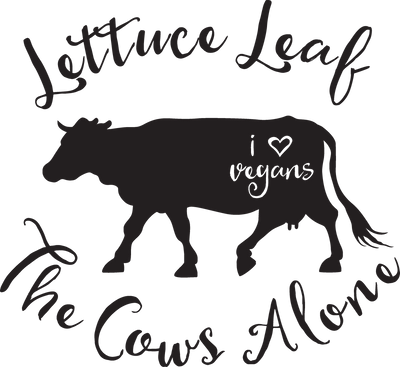 Ladies Classic Fit V-Neck - Lettuce Leaf The Cows Alone