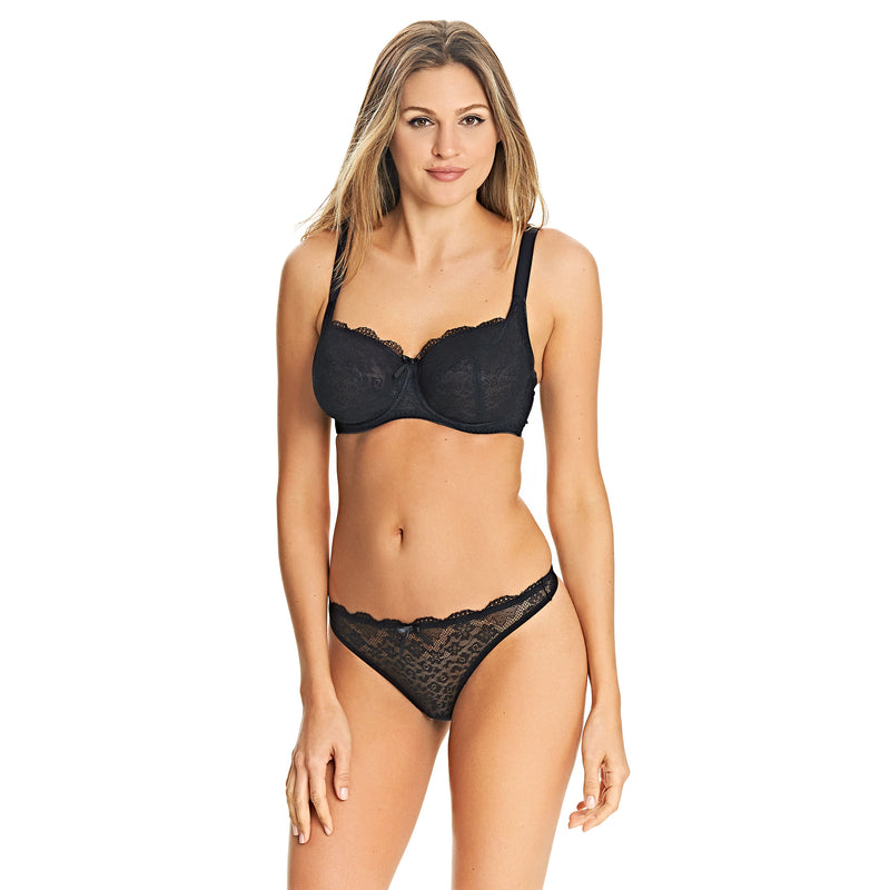 Freya Fancies Balcony K Cup Bra- Black