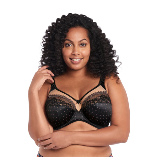 Goddess Bridget Banded Bra- Black