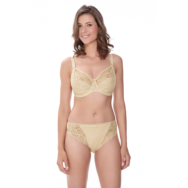 Jacqueline Lace Full Cup Bra- Ivory