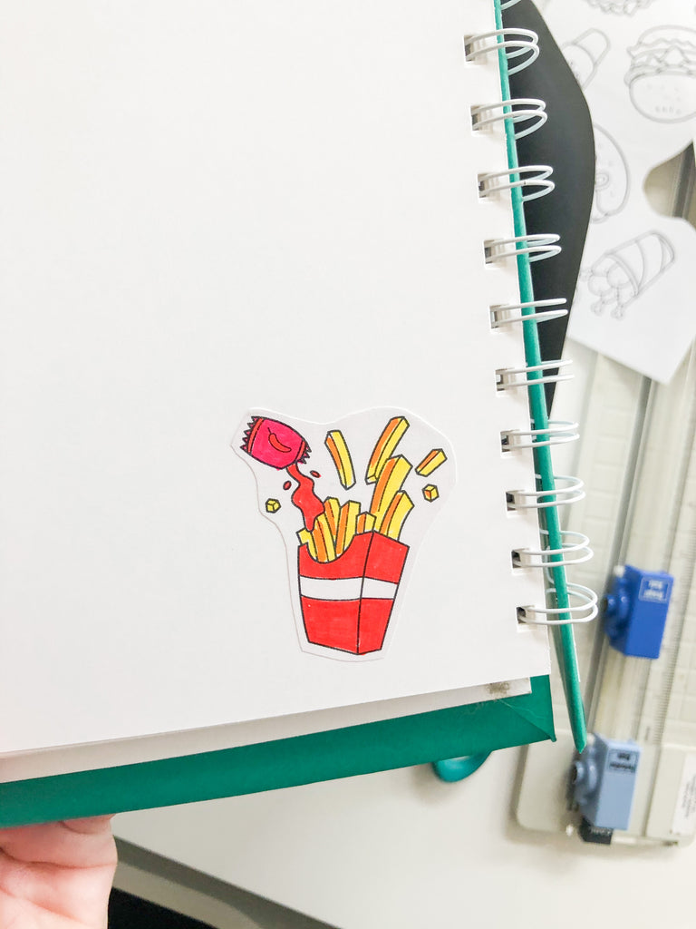 Decorate with your DIY Fast Food Stickers