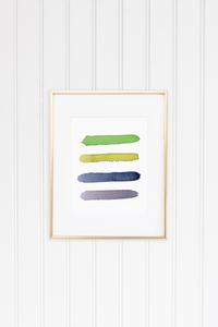 Golf Shores Color Palette Print