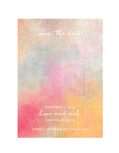 Hope // Save or Change The Date Card and Envelope