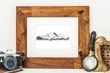 Longs Peak Graphite Drawing Print