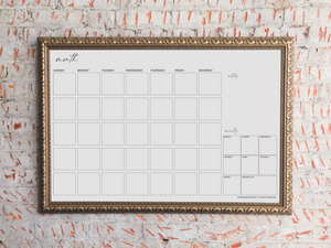 Monthly Calendar and Meal Planning Printable