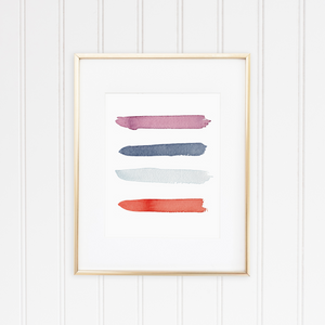 Ocean City Color Palette Print