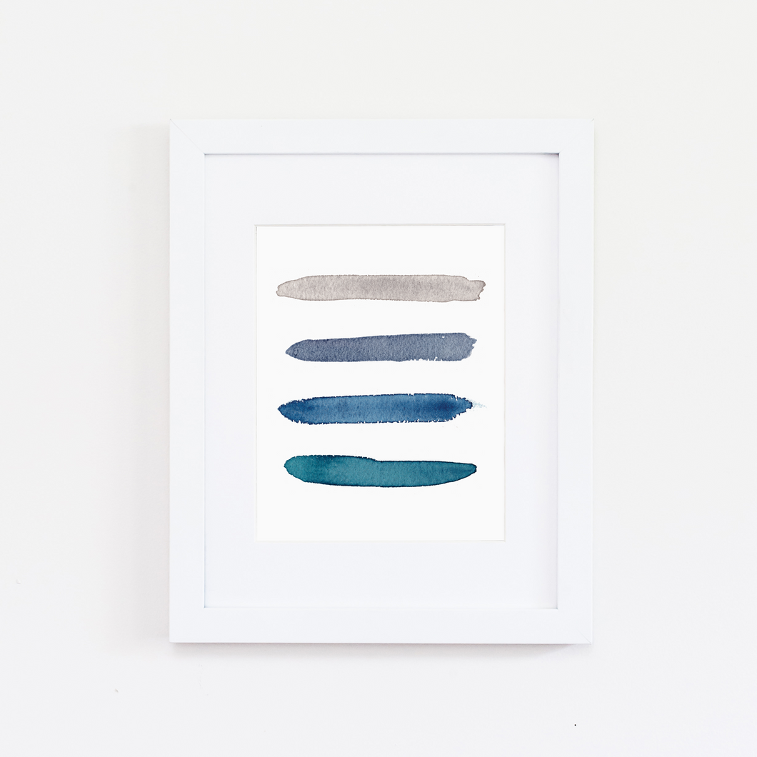 Tybee Color Palette Print