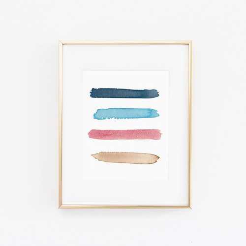 Big Sur Color Palette Print