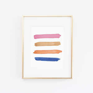 Santa Monica Color Palette Print