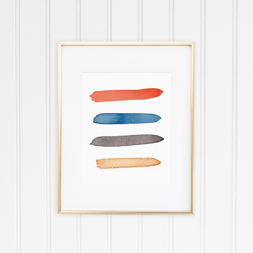 Long Beach Color Palette Print