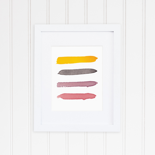 Sunset Color Palette Print