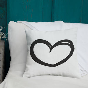 Black Heart Premium Pillow