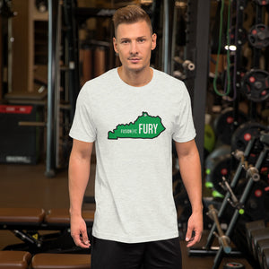Green Kentucky Fury Short-Sleeve Unisex T-Shirt