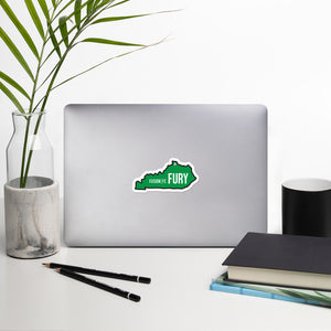 Single Green Kentucky Bubble-free sticker