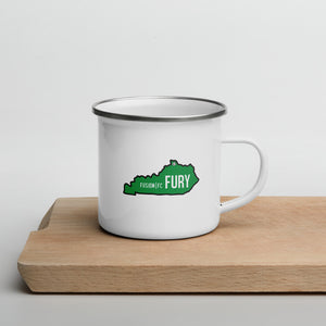 Green Kentucky Enamel Mug