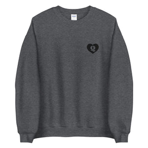 Black Queen of Hearts Unisex Sweatshirt