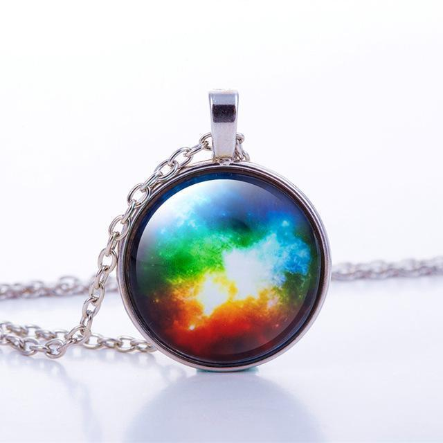 Space nebula necklace & charm collection