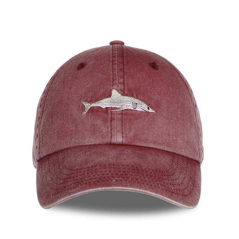 Great white shark dad adjustable hat