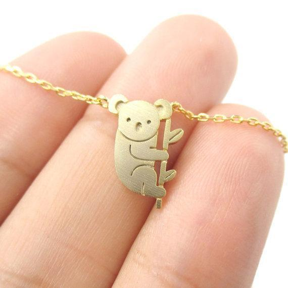 Koala bear bamboo necklace