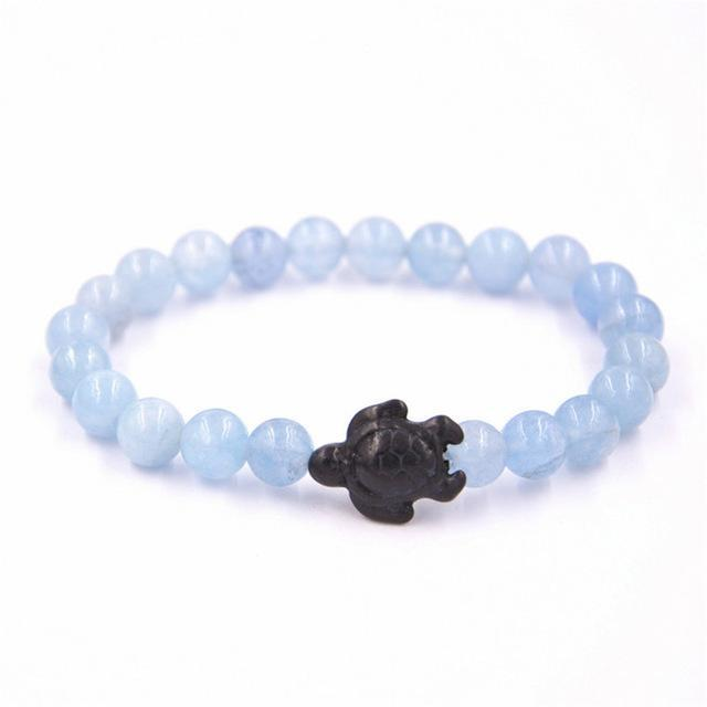 Carefree sea turtle stone bracelet