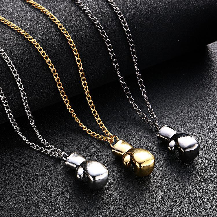 Boxing glove necklace & pendant