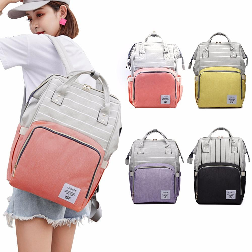 Striped Baby Backpack Diaper Bag