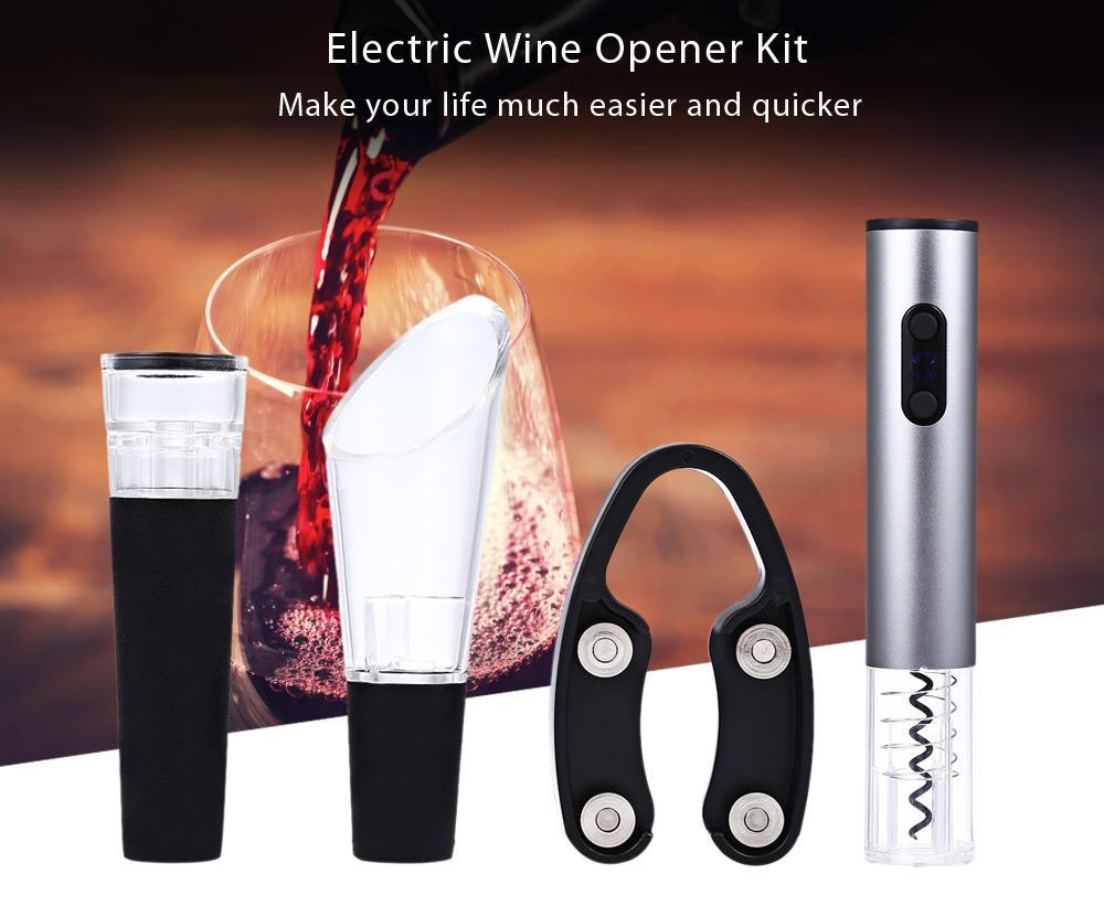 Automatic Wine Opener 4-Piece Kit
