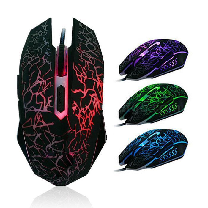 4000 Dpi Color Changing Led Wired Optical Gaming Mouse