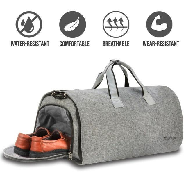 2 in 1 Garment Duffel Weekender Bag