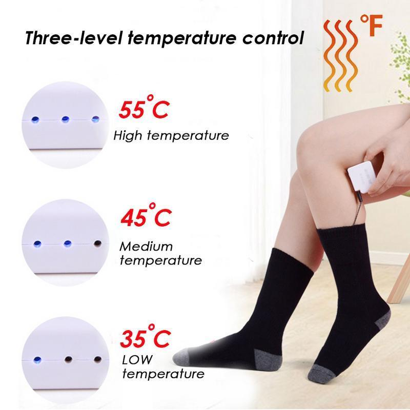 Adjustable Temperature Heated Socks