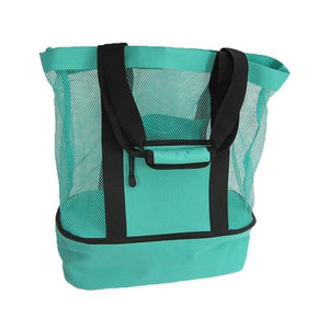 2 in 1 Beach Tote Bag with Insulated Cooler