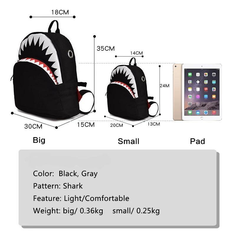 JAWSOME 3D Shark Backpack