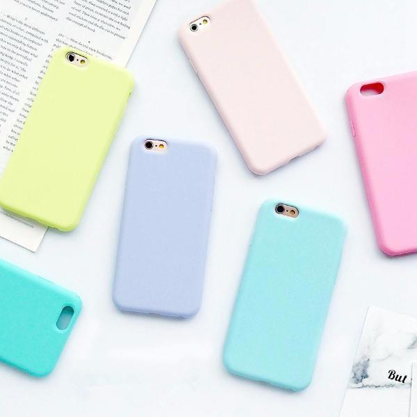 Macaroon colored case collection for iphone 7, 7 plus