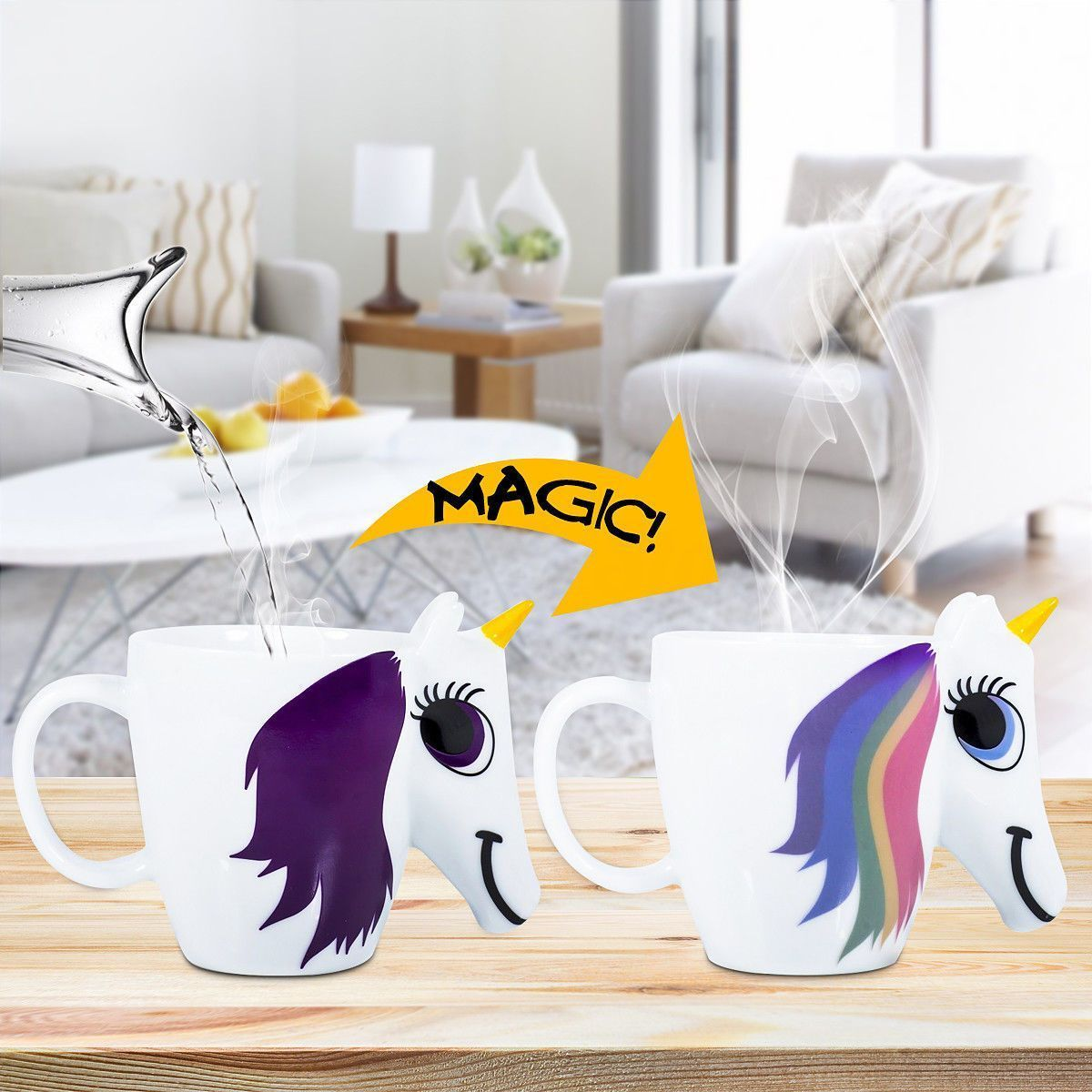 Color Changing Rainbow Unicorn Mug