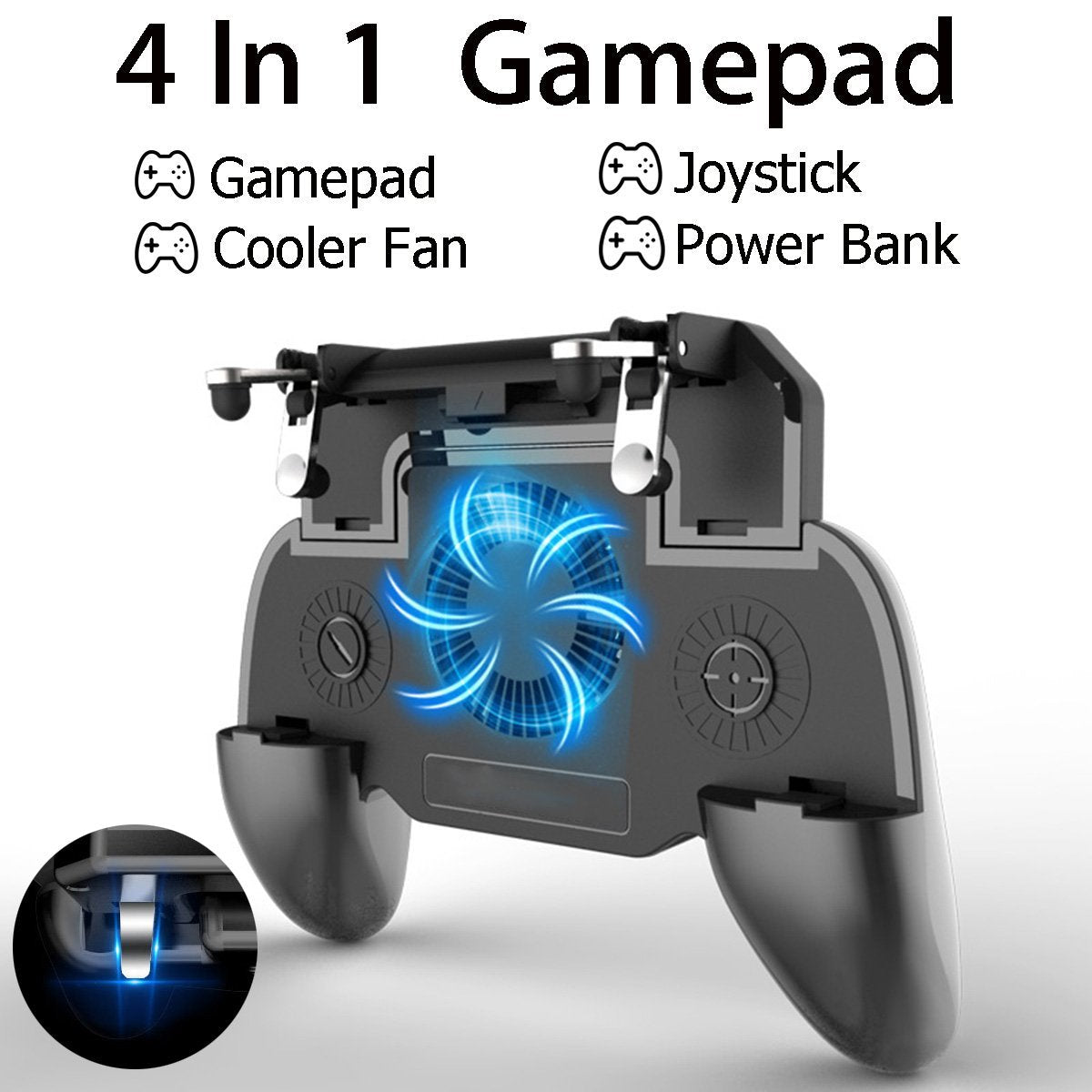 4 in 1 Mobile Phone Gamepad Controller